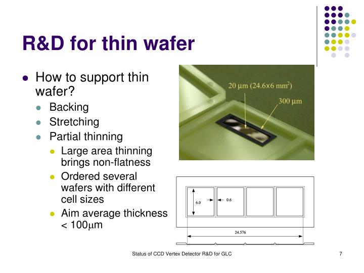 R&D for thin wafer