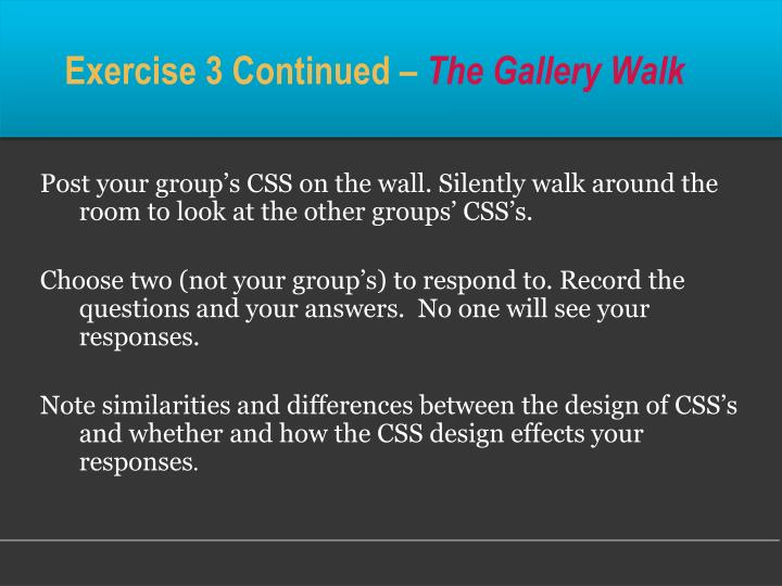 Exercise 3 Continued –