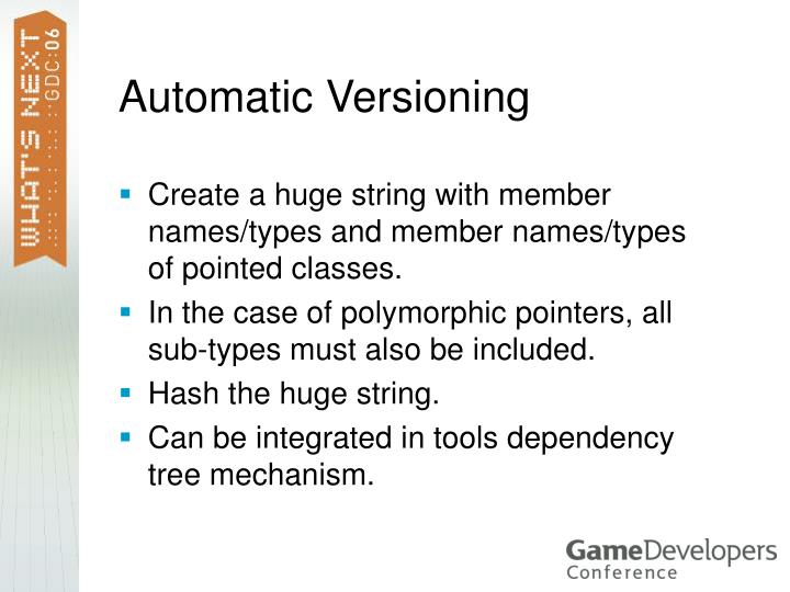 Automatic Versioning