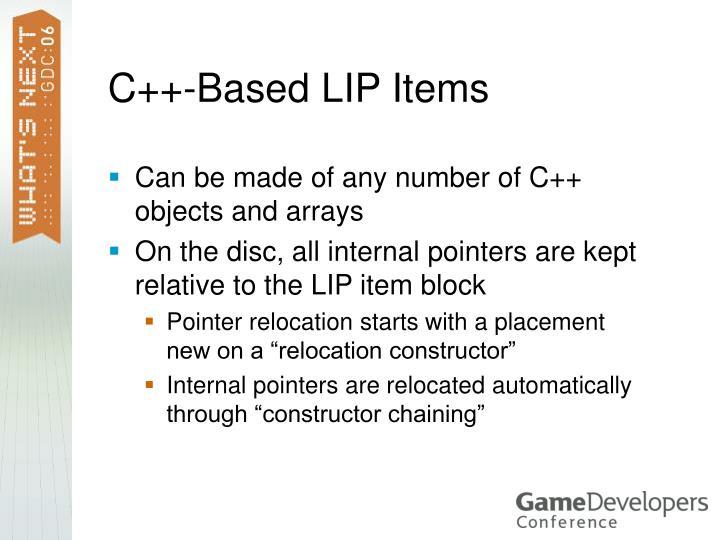 C++-Based LIP Items