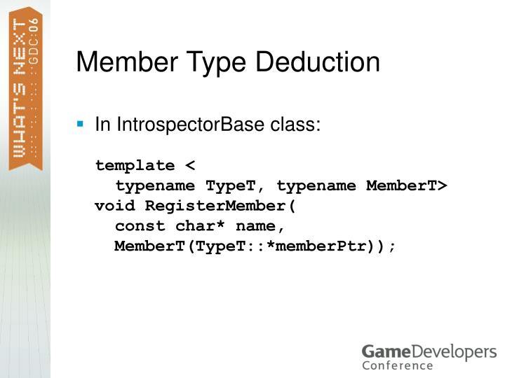 Member Type Deduction