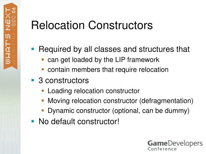 Relocation Constructors