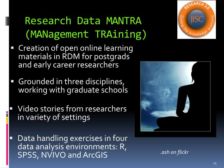 Research Data MANTRA (