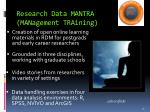 research data mantra management training1