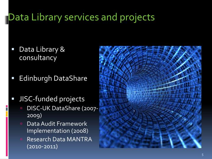 Data Library services and projects