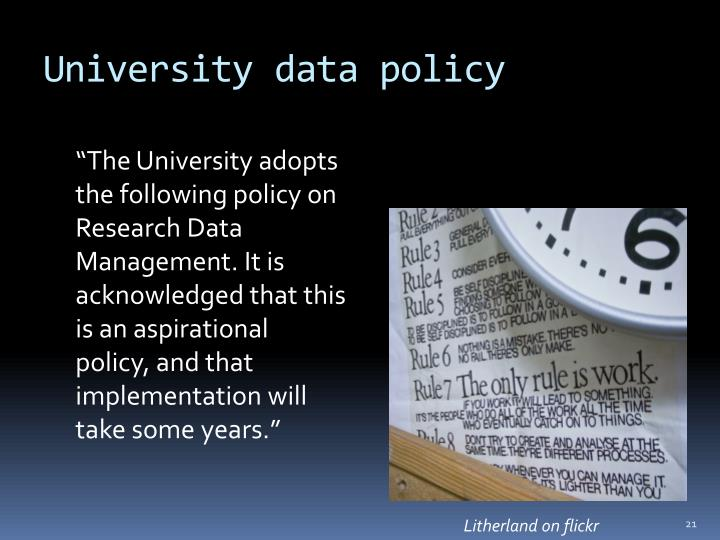 University data policy
