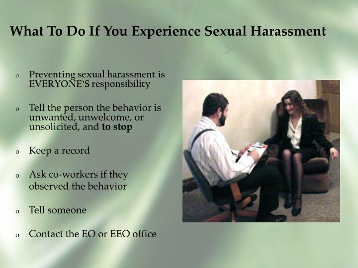 What To Do If You Experience Sexual Harassment