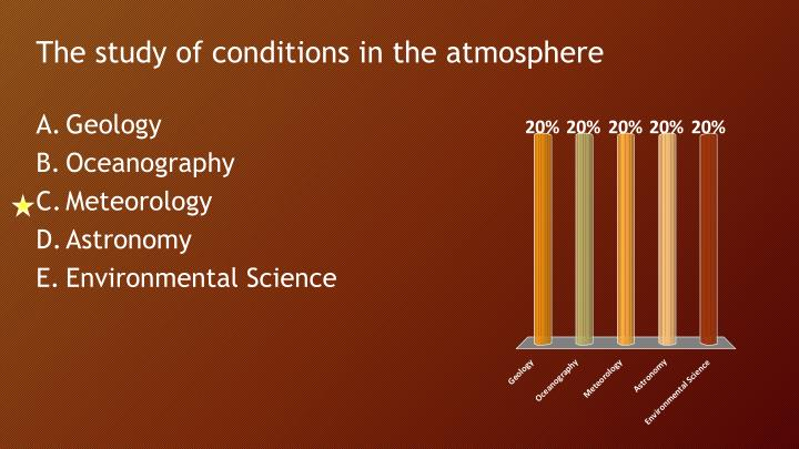 The study of conditions in the atmosphere