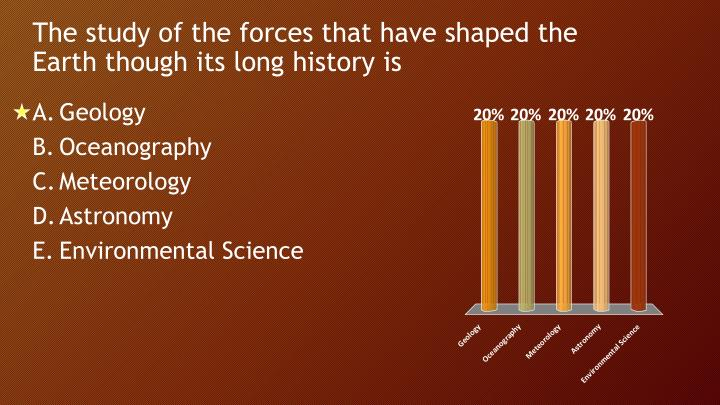 The study of the forces that have shaped the Earth though its long history is