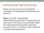 looking ahead teleconferencing3