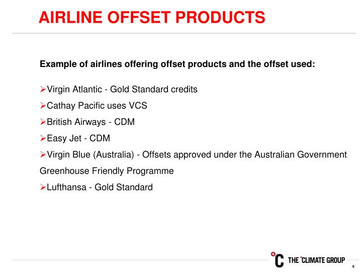 AIRLINE OFFSET PRODUCTS