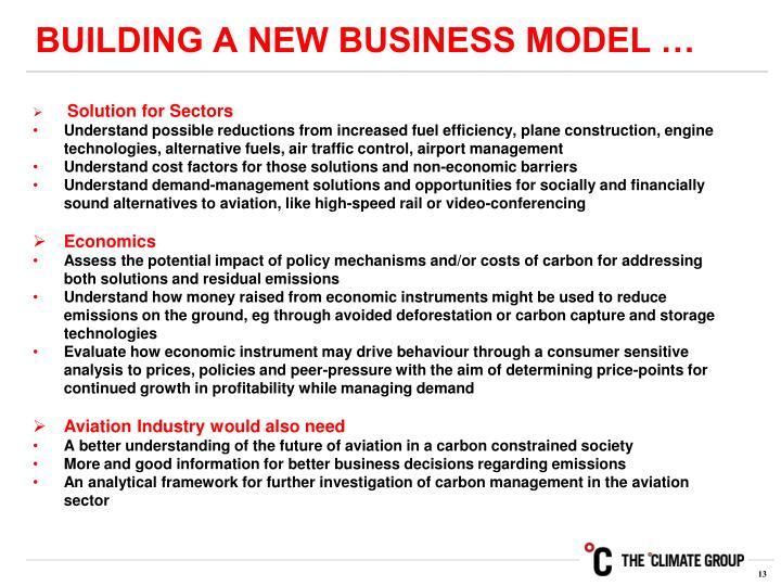 BUILDING A NEW BUSINESS MODEL …