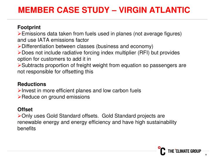 MEMBER CASE STUDY – VIRGIN ATLANTIC