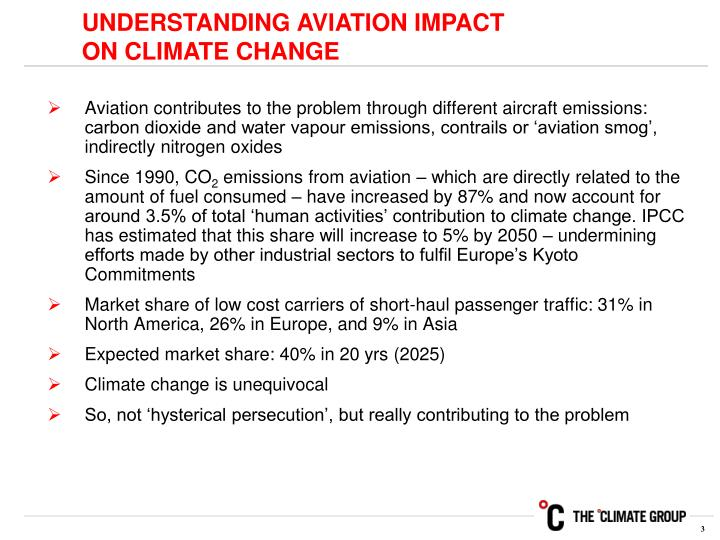 UNDERSTANDING AVIATION IMPACT