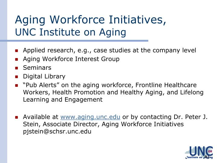 Aging Workforce Initiatives,