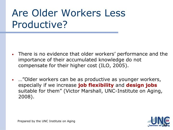 Are Older Workers Less Productive?