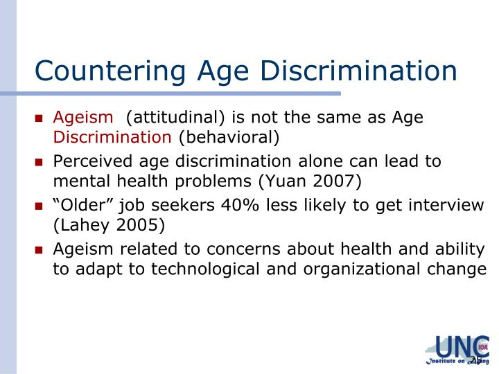 Countering Age Discrimination