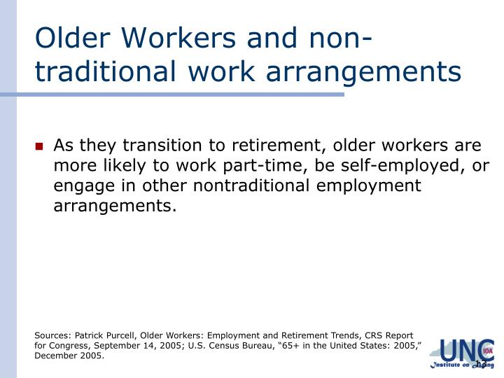 Older Workers and non-traditional work arrangements