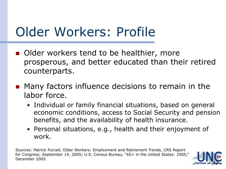 Older Workers: Profile