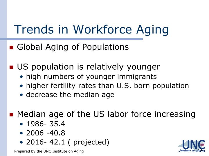 Trends in workforce aging