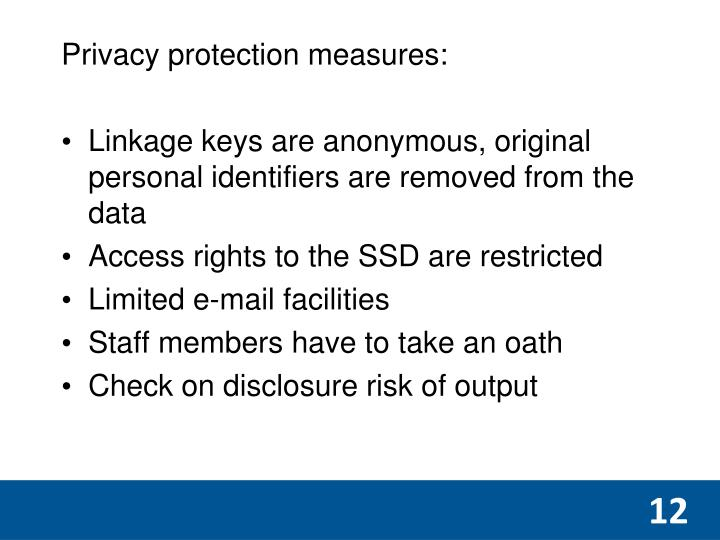 Privacy protection measures:
