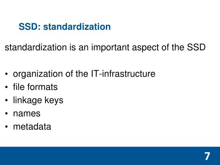 SSD: standardization