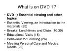 what is on dvd 1