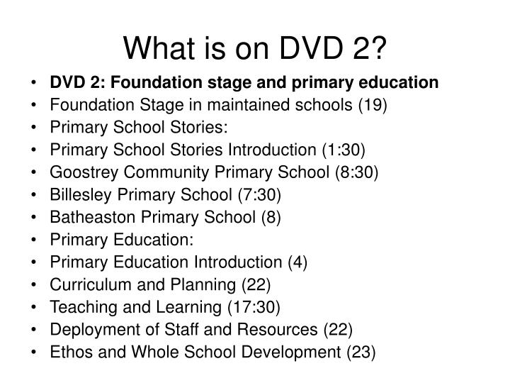 What is on DVD 2?