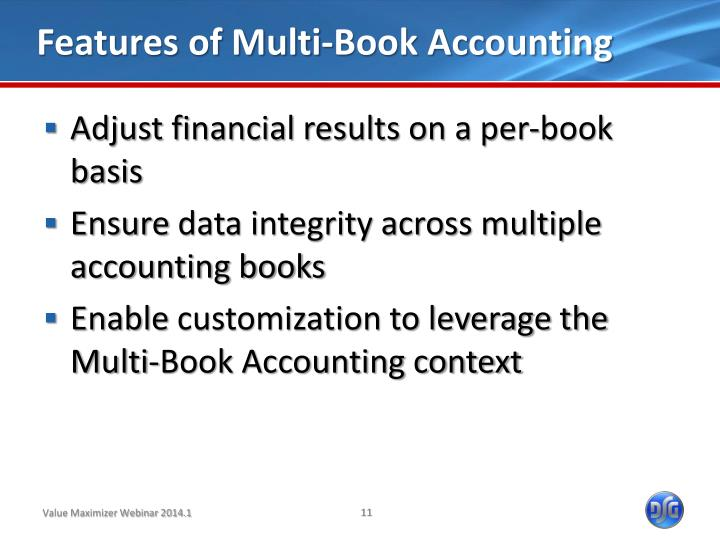Features of Multi-Book Accounting