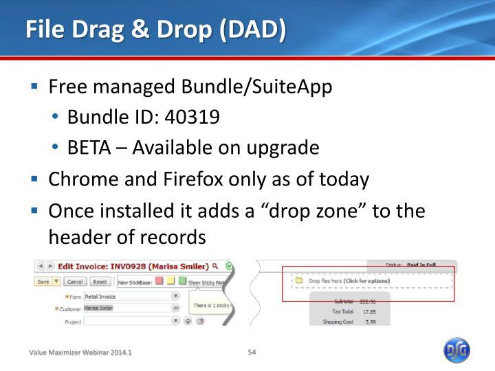 File Drag & Drop (DAD)