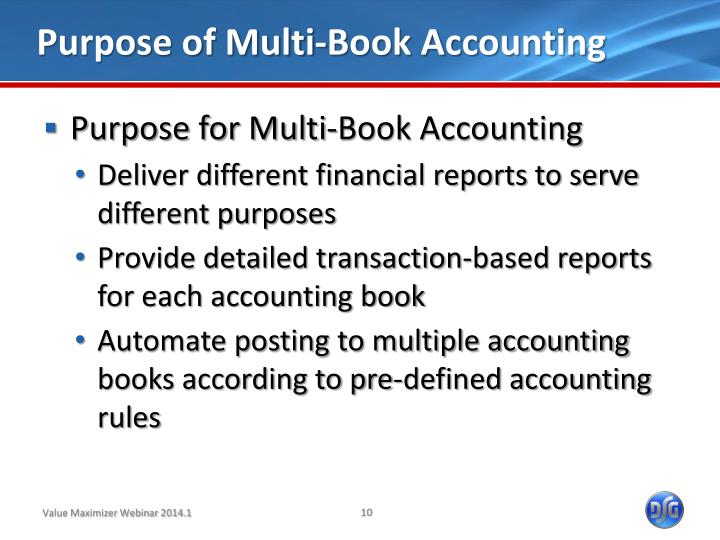 Purpose of Multi-Book Accounting
