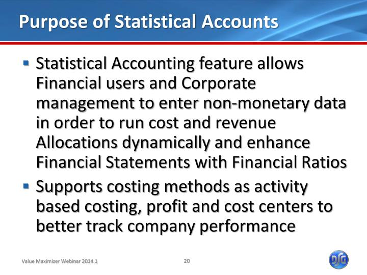 Purpose of Statistical Accounts