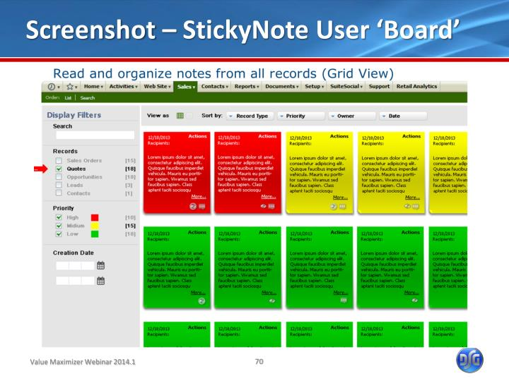 Screenshot – StickyNote User 'Board'
