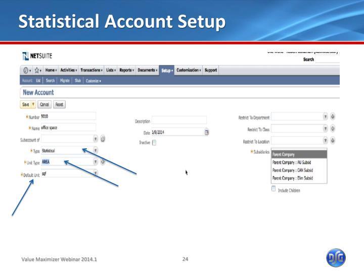 Statistical Account Setup