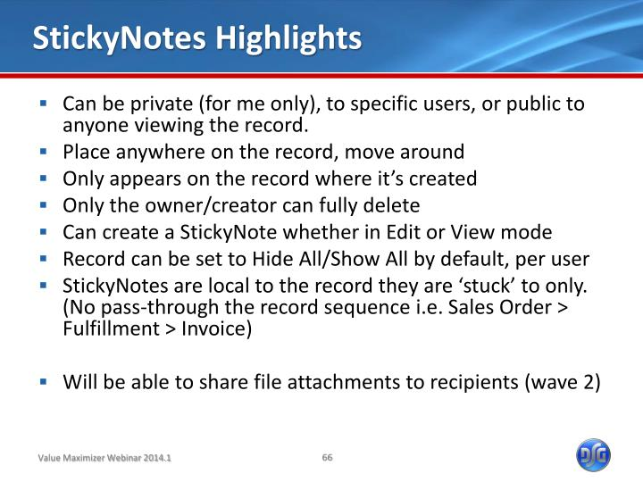 StickyNotes Highlights