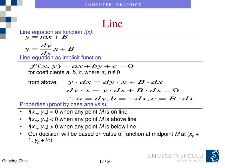 Line equation as function