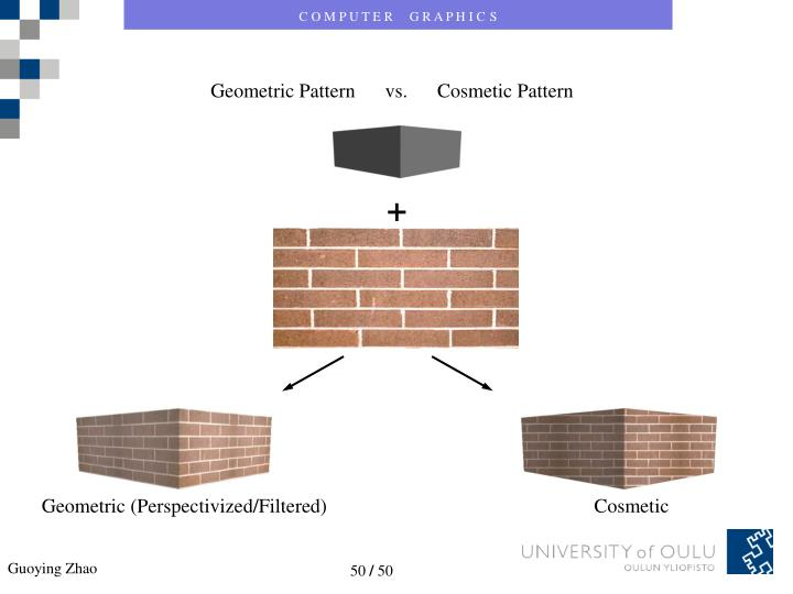 Geometric Pattern      vs.      Cosmetic Pattern