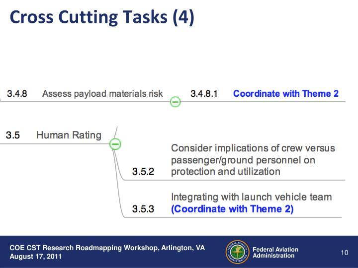 Cross Cutting Tasks (4)