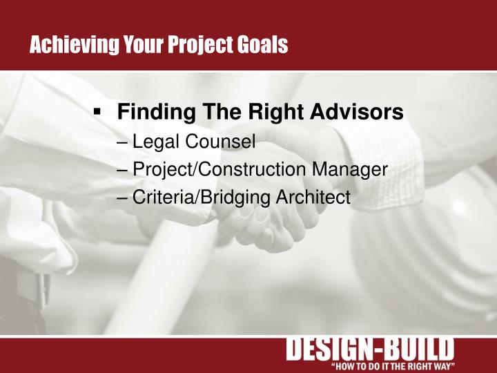 Achieving Your Project Goals
