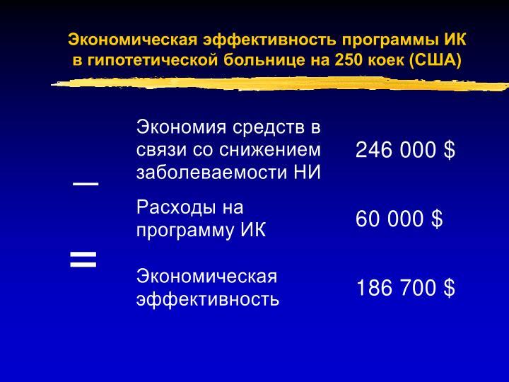 Экономическая эффективность программы ИК