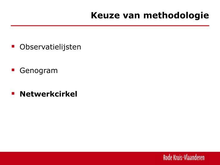 Keuze van methodologie
