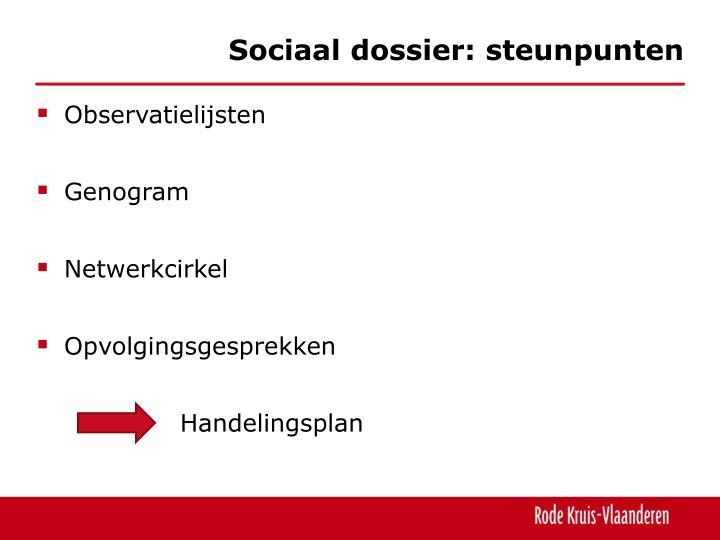 Sociaal dossier: steunpunten
