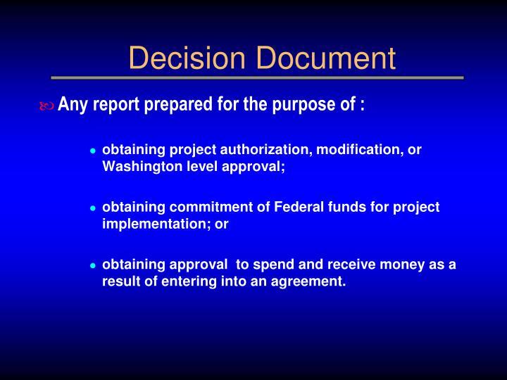Decision Document