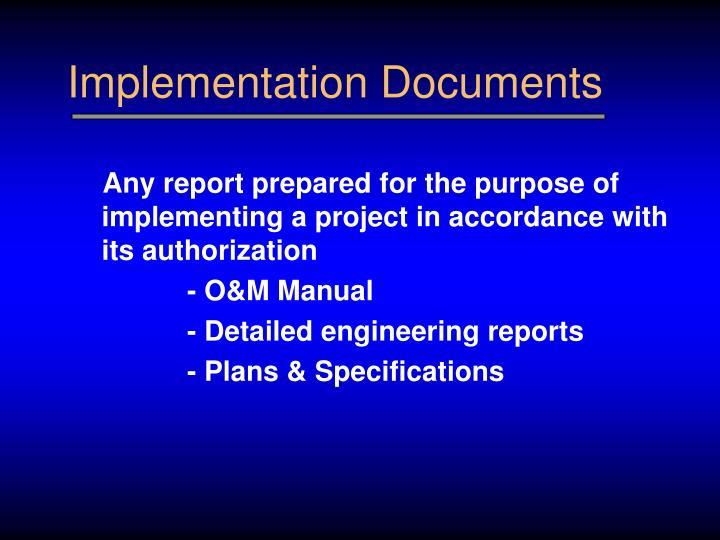 Implementation Documents