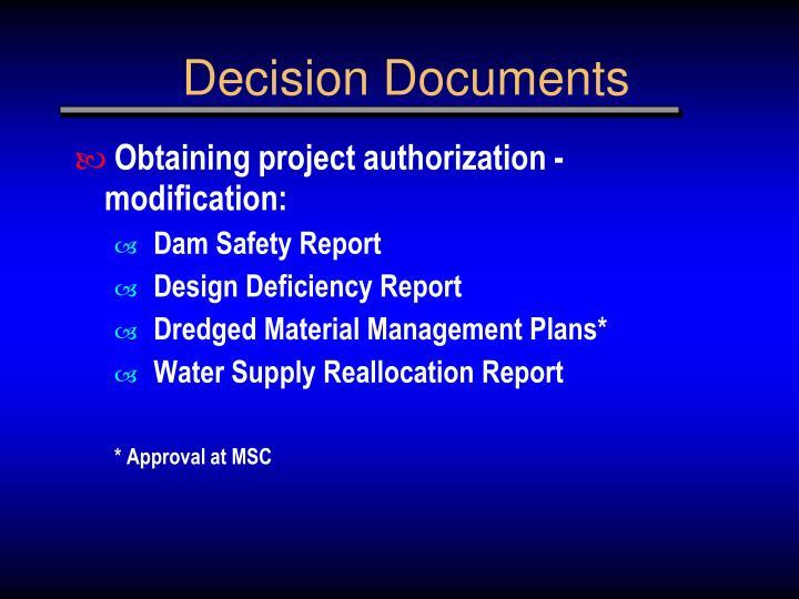 Decision Documents