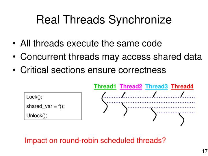 Real Threads Synchronize