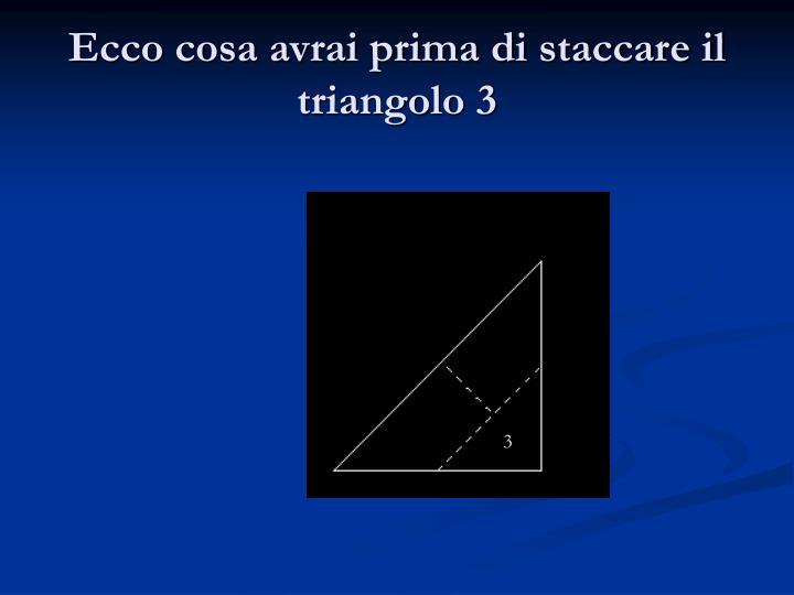 Ecco cosa avrai prima di staccare il triangolo 3