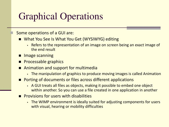 Graphical Operations