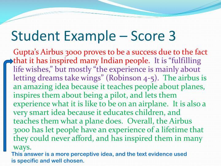 Student Example – Score 3