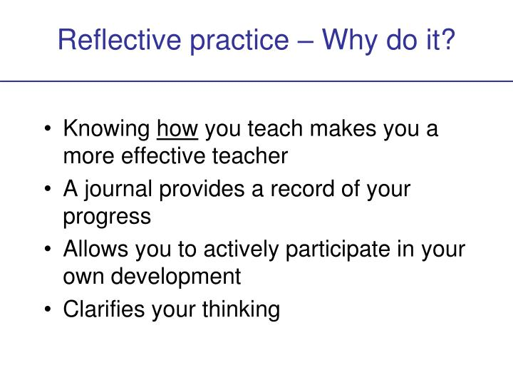 reflective account of presentation Upgrade study skills: reflective writing reflection as a tool for personal and professional development needs a bit of effort.
